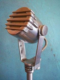 Vintage RARE 1940's Electro Voice 640 C dynamic microphone old deco midcentury