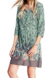 Marks & Spencer Indigo Collection Vintage Style Floral Tunic Dress T66/9663.  UK20 EUR48  MRRP: £39.50 GBP - AVI Price: £25.00 GBP