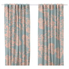 "SAFE HOUSE USA - ""Lauren"" Print Lined Curtain Panels"