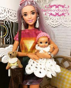 Kuzenimle evde Barbie Et Ken, Barbie Kids, Barbie Skipper, Barbie Doll House, Ken Doll, Barbie Dress, Fashion Royalty Dolls, Fashion Dolls, Barbie Happy Family