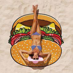 Giant Hamburger-Beach Blanket