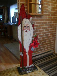 Création de mon premier gros Père Noël en  2012