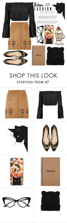 """""""Cat 🐱 Autumn 🍂"""" by sati199308 ❤ liked on Polyvore featuring Dorothy Perkins, Boohoo, Kate Spade, Casetify, Brika and Forever 21"""