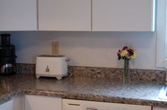 Faux Granite Painted Countertops - Guest Post by Creative Kristi - Pretty Handy Girl