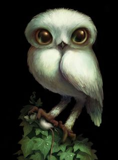 """Barbara Canepa owl from my comic """"END"""""""