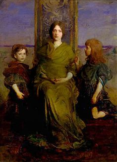 Virgin Enthroned, Abbott H Thayer