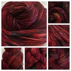 Dyed to Order Hand Dyed Hand Painted Sangria Wine by LBArtYarn