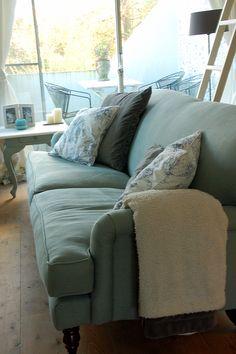 Snowdrop sofa by sofa.com in Belgian linnen, colour Duck-egg.