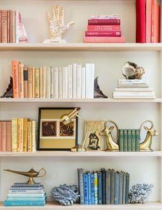 Stunning Bookshelf Styling: 132 Best Practice Ideas www. Stunning Bookshelf Styling: 132 Best Practice Ideas www.futuristarchi… Stunning Bookshelf Styling: 132 Best Practice Ideas www. Styling Bookshelves, Decorating Bookshelves, Bookshelf Design, Bookshelf Ideas, Bookcases, Shelves For Books, Apartment Bookshelves, Bedroom Bookshelf, Office Bookshelves