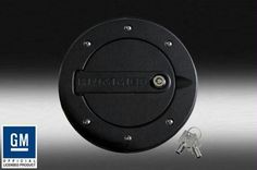 Hummer H3 H3T LOCKING FUEL DOOR - BLACK