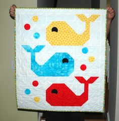 Whale Baby quilt                                                                                                                                                                                 More