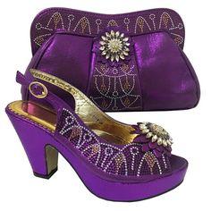 Doershow Haute classe chaussures et sac ensemble de style