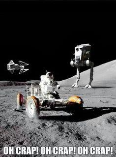 Star Wars meets moon landing
