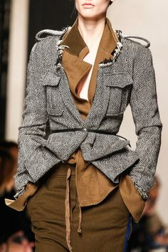 The Military Ranks Shoulders & Grunge Trends for Fall Winter 2013 Haider Ackermann 2013