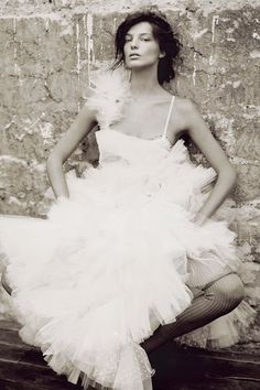 Daria Werbowy by Paolo Roversi for Vogue UK,