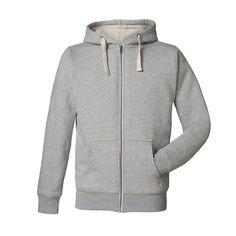 Sherpa Lined Organic Hooded Sweatshirt - Men - Heather Gray - menscut Tommy Hilfiger, Trendy Haircuts, Sherpa Lined, Nike, Mens Sweatshirts, Hooded Jacket, Heather Grey, Hoods, Sweaters