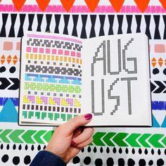 August in Vivid Color & Patterns. #calendar