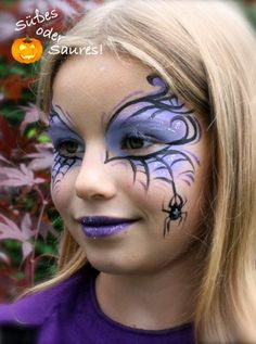 Face painting, face painting in and around Munich - Face painting, face painting in and around Munich - Face Painting Halloween Kids, Halloween Makeup For Kids, Girl Face Painting, Face Painting Designs, Halloween Party, Bat Face Paint, Witch Face Paint, Kids Witch Makeup, Tinta Facial