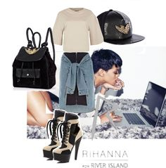 """In RIVER ISLAND from head to toe - RIHANNA"" by stylismatic on Polyvore"