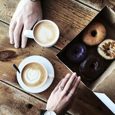 Texan Coffee  Donuts.  Happy Tuesday.  Vegan donuts in Denton and Dallas. Plus all of our other goods. When you think donuts think Hypnotic Donuts. Thanks @melodyjoymunn for the pic.  #dallas #texas #coffee #donuts #danielwellington #theeverygirl #munnliving #hypnoticdonuts #denton #donuts #doughnuts #unt #twu #dallas #texas #losangeles #newyork #instabreakfast #instadonuts #instafood #instagood by hypnoticdonuts