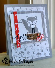 I must be the only person on the planet who hasn't inked up a fox yet this season! I finally opened my Foxy Friends set and made a . Stampin Up Foxy Friends Cards, Foxy Friends Punch, Friends Set, Cards For Friends, Stampin Up Cards, Stampin Up Catalog, Animal Cards, Card Maker, Stamping Up