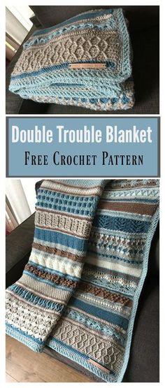Double Trouble Blanket Free Crochet Pattern