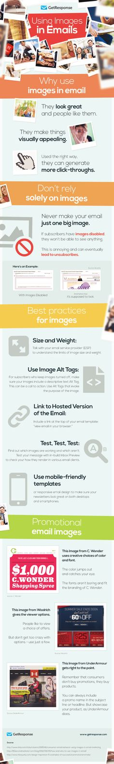 Email Marketing Tip: A wonderful infographic from Get Response about using graphic images in your email. Email Marketing Lists, Email Marketing Campaign, Marketing Articles, Marketing Software, Marketing Digital, Internet Marketing, Online Marketing, Media Marketing, Marketing Technology