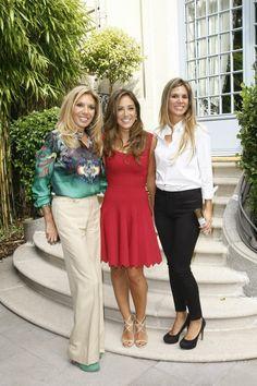 Maribel Yébenes y Myriam G.Yébenes con Tamara Falcó en la presentación de MY SECRET