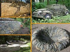 Fire Pit - 26 Fabulous Garden Decorating Ideas with Rocks and Stones | Architecture & Design