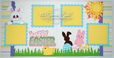 Happy Easter Scrapbook Layout BLJgraves