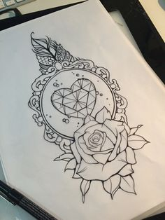 Diamond and rose design