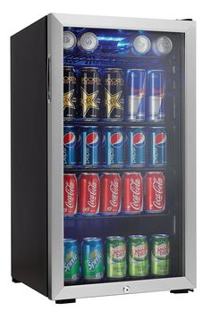 Amazon Com Danby 120 Can Beverage Center Stainless Steel Dbc120bls Appliances Outdoor Outdoor Refrigeratorbeverage Refrigeratorcompact