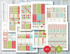 Free Monthly Printable Planner Stickers Set - Christmas - Erin Condren