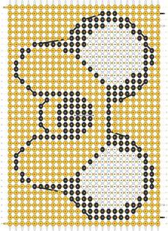 Alpha friendship bracelet pattern added by Racoon. Alpha Patterns, Loom Patterns, Beading Patterns, Diy Bracelets With String, Diy Friendship Bracelets Patterns, Fibre And Fabric, Beaded Cross Stitch, Bracelet Crafts, Bracelet Tutorial