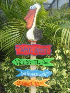 Handmade garden sign. Perfect for your patio or tiki hut!