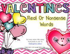 Valentines Real/Nonsense Word Sort Freebie!
