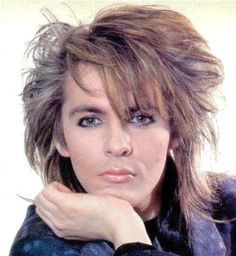 Back in the 80s, when men could wear makeup and still be considered heart throbs.