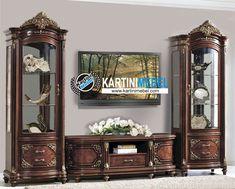 Bufet tv kayu jati ukir klasik rahajavana Living Room Designs, Living Rooms, French Decor, Tv Unit, Vintage Furniture, Liquor Cabinet, Curio Cabinets, Storage, Bedroom