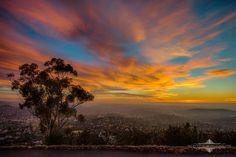 Evgeny Yorobe Photography   -    Last night's gorgeous sunset shot from the top of Mt. Helix, overlooking southeast San Diego all the way to the Coronado Bridge and San Diego Skyline. If you zoom in on the picture you can see the skyline on the right. 1/4/15