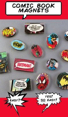 76 Crafts To Make and Sell - Easy DIY Ideas for Cheap Things To Sell on Etsy, Online and for Craft Fairs. Make Money with These Homemade Crafts for Teens, Kids, Christmas, Summer, Mother's Day Gifts. | Comic Book Magnets | diyjoy.com/crafts-to-make-and-sell