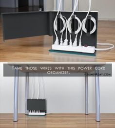 Genius Ideas- power cord organizer