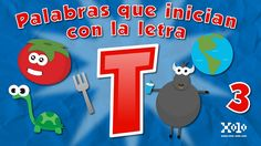 Words that automatically start with the letter T in Spanish for children...