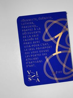 Benoiît Bodhuin / Visa pour l'art - passport to discovery Parisian crafts - design of the cover and of 4 stamps.