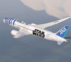 R2-D2 Plane. Boeing 787 airplane was decorated to look like R2-D2 droid from Star Wars. Customers of Japanese airline ANA ( All Nippon Airways ) will be able to fly on this awesome Star Wars inspired airplane later this year.