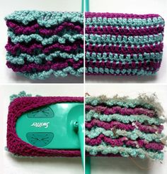 Free Pattern.  Reusable swiffer mop cover. Also reversable.  Duster one side.  Mop the other.