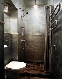 Is that shower metal or stone? A+ for metal.