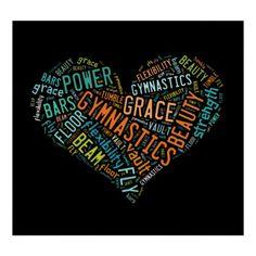 Gymnastics Heart Collage Poster #ilovegymnastics #gymnastics #giftforgymnast
