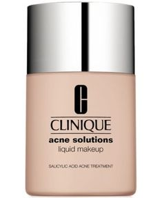 Clinique Acne Solutions Liquid Makeup Foundation, 1 oz - Gifts with Purchase - Beauty - Macy's Best Foundation For Acne, Foundation For Sensitive Skin, Oil Free Foundation, No Foundation Makeup, Foundation Tips, Mascara, Eyeliner, Make Up, Foundation