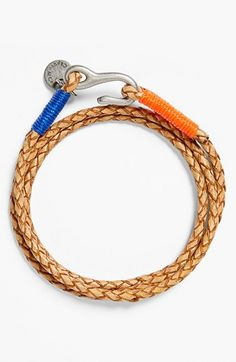 Free shipping and returns on Caputo & Co Washed Braided Leather Bracelet at Nordstrom.com. A washed, vegetable-tanned leather bracelet wrapped with color-pop waxed threads looks great alone, or cool and casual when layered with other bracelets.