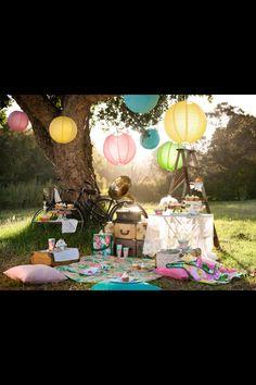 Om heel vrolijk van te worden, deze picknick